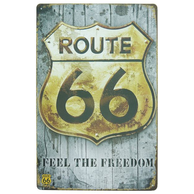 placa-decorativa-feel-the-freedom-30cm-the-home-route-66-2019-02535-1